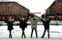 За спинами наших девушек - пр им Ленина