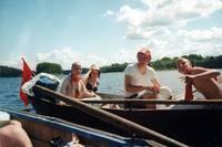 На лодке